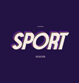 sport font 3d bold style vector image vector image
