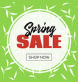 spring sale banner template for online store vector image vector image
