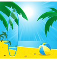 summer beach and surf board2 vector image vector image