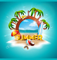 summer holiday with ship vector image vector image