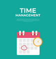 time management concept with cflendar date and vector image