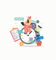 time management flat style design vector image