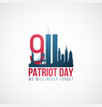 twin towers 911 usa patriot day banner world vector image vector image
