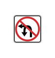 usa traffic road signs no u-turn or left turn vector image