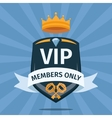 VIP Club members only background vector image vector image