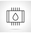 Water heated floor black line icon vector image vector image