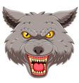 wolf head emblem mascot vector image