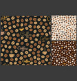 coffee pattern background vector image