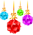 abstract colorful christmas decorations vector image