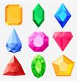 jewels set gems and diamonds vector image
