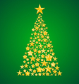 abstract christmas tree from the stars vector image