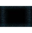 frame of blue lights vector image