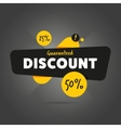 Guaranteed discount advertisement promo banner vector image