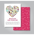 Two sides invitation card design with manicure vector image
