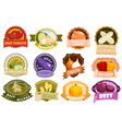 vegetables label logo eco nature product badge vector image