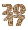 2017 for quote lettering Happy new year vector image vector image