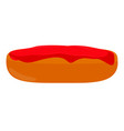 abstract burger object vector image
