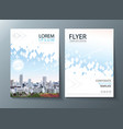 annual report brochure flyer design leaflet vector image