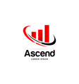 ascend logo business symbol icon vector image