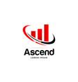 ascend logo business symbol icon vector image vector image
