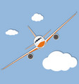 aviation poster with jet airplane in sky vector image vector image