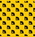 baseball field pattern vector image vector image