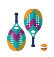 beach tennis rackets and ball set vector image vector image