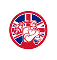 british cable installer union jack flag icon vector image vector image