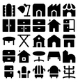 Building and Furniture Icons 14 vector image vector image