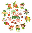 business promotion with winter elf hero vector image vector image