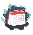 calendar planning vector image vector image