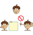 Cartoon acorn design vector image vector image