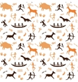 Cave drawings theme vector image