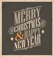 Christmas card template on old paper texture vector image vector image