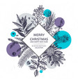 christmas greeting card or invitation design vector image vector image