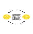 cryptocurrency exchange vector image vector image