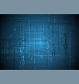dark blue technology background with binary code vector image vector image