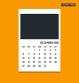 December 2015 calendar vector image