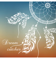 dream catcher sunset background vector image vector image