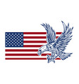 eagle on american flag design element for logo vector image vector image