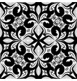 floral black and white vintage seamless pattern vector image