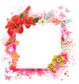 floral card with place for text vector image vector image