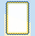 frame and border of ribbon with ukraine flag vector image vector image
