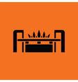Gas burner icon vector image vector image