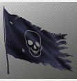 halloween flag with skull vector image