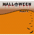 Halloween party with seamless pattern background vector image