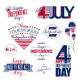 Happy Independence Day United States overlay vector image vector image