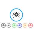 hardware bug rounded icon vector image