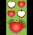 heart and roses Valentine design vector image vector image
