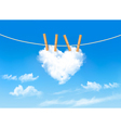 Heart shaped cloud on rope Nature beautiful vector image vector image